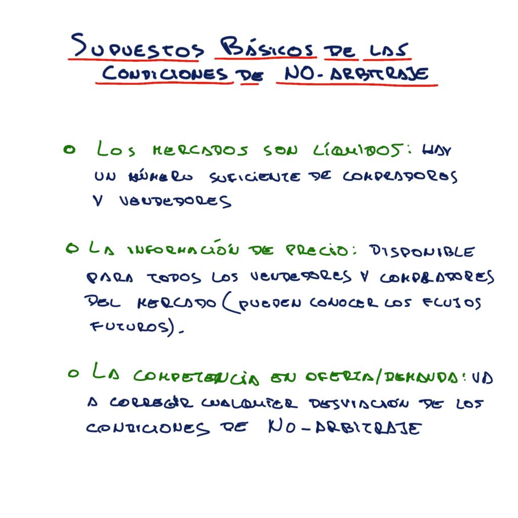 supuestos de condiciones de no arbitraje