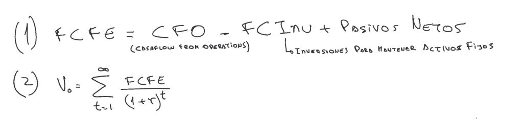 fórmula de free cash flow to equity