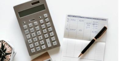 calculadora y anotador