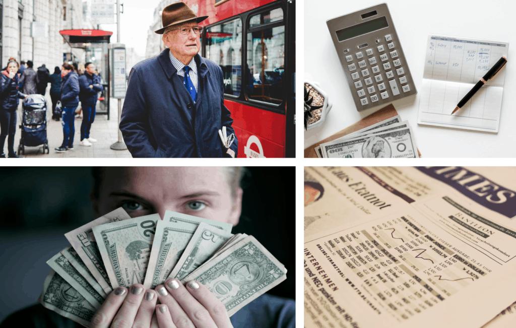 imágen de dinero y calculadora con interés